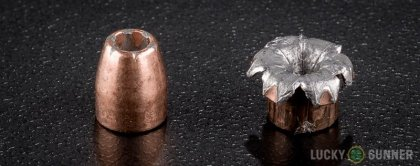 Image displaying fired .32 Auto (ACP) rounds compared to an unfired bullet