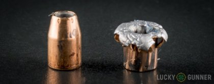 Line-up of Federal 10mm Auto ammunition - fired vs. unfired