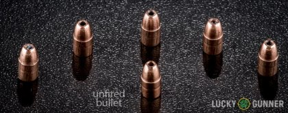 Line-up of CCI .22 Magnum (WMR) ammunition - fired vs. unfired