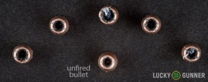 Line-up of Speer .32 Auto (ACP) ammunition - fired vs. unfired