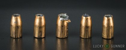 Line-up of Federal 9mm Luger (9x19) ammunition - fired vs. unfired