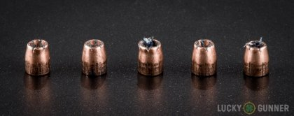 Side by side comparison of an unfired Speer .32 Auto (ACP) bullet vs. the unfired round