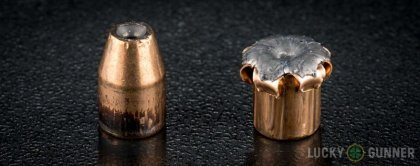 Line-up of Federal .357 Sig ammunition - fired vs. unfired