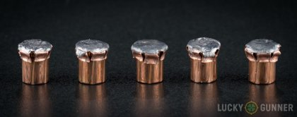 Line-up of Hornady .357 Sig ammunition - fired vs. unfired
