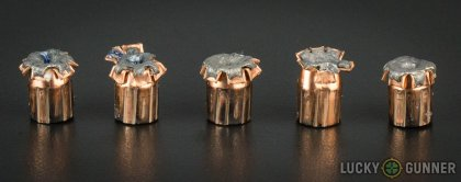 Line-up of Fiocchi 9mm Luger (9x19) ammunition - fired vs. unfired