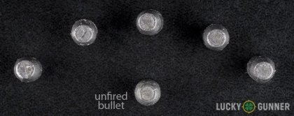 Image displaying fired .32 H&R Magnum rounds compared to an unfired bullet