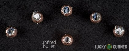 Side by side comparison of an unfired Hornady .32 Auto (ACP) bullet vs. the unfired round