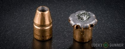 Line-up of Federal .357 Magnum ammunition - fired vs. unfired