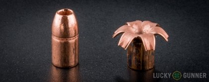 Line-up of Buffalo Bore .357 Magnum ammunition - fired vs. unfired