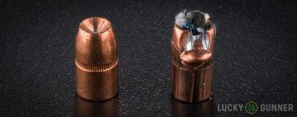 Line-up of Speer .357 Magnum ammunition - fired vs. unfired