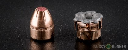 Line-up of Hornady 9mm Makarov (9x18mm) ammunition - fired vs. unfired
