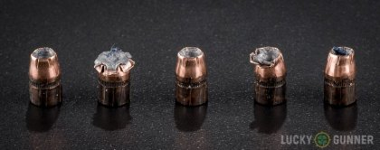 Line-up of Black Hills Ammunition .32 H&R Magnum ammunition - fired vs. unfired