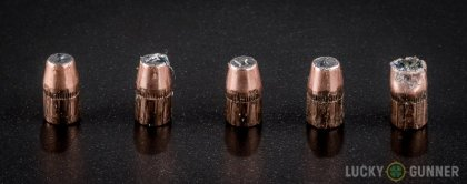 Line-up of Federal .327 Federal Magnum ammunition - fired vs. unfired