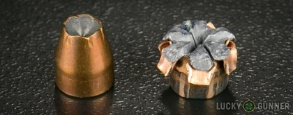 Line-up of SIG SAUER .380 Auto (ACP) ammunition - fired vs. unfired