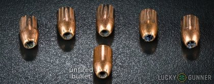 Line-up of Remington 9mm Luger (9x19) ammunition - fired vs. unfired