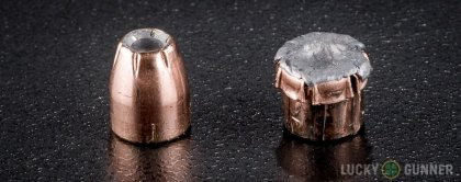 Line-up of Fiocchi .32 Auto (ACP) ammunition - fired vs. unfired