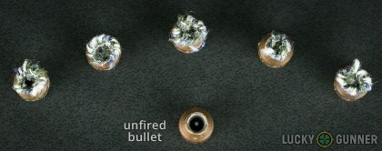 Line-up of Federal .380 Auto (ACP) ammunition - fired vs. unfired