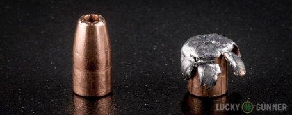 Line-up of Speer .22 Magnum (WMR) ammunition - fired vs. unfired