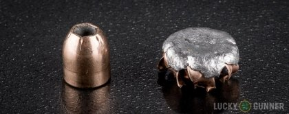 Side by side comparison of an unfired Corbon .32 Auto (ACP) bullet vs. the unfired round