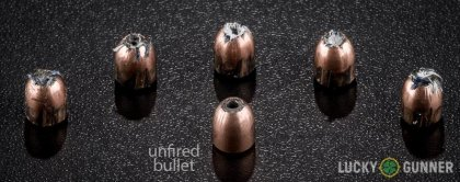 Line-up of Silver Bear 9mm Makarov (9x18mm) ammunition - fired vs. unfired