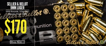 photo of a box of sellier & bellot 9mm 115 gr ammo