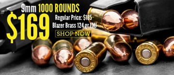 photo of blazer brass 124gr 9mm ammo