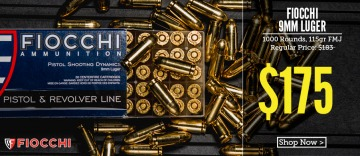 photo of fiocchi 115 grain 9mm ammo