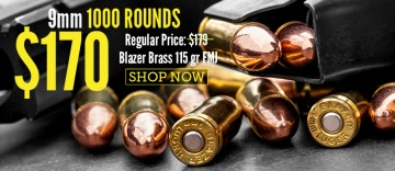 blazer brass 115gr FMJ 9mm bullets