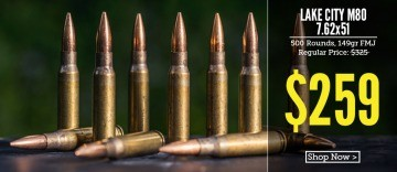 Lake City 7.62x51mm bullets