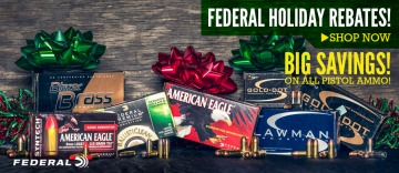 photo of federal holiday rebates 2018 pistol ammo