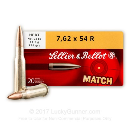Image 2 of Sellier & Bellot 7.62x54r Ammo