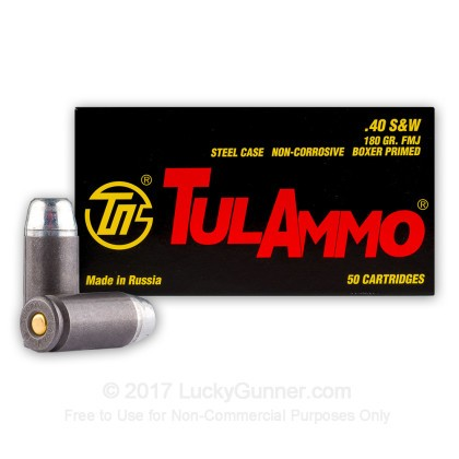 Image 2 of Tula Cartridge Works .40 S&W (Smith & Wesson) Ammo