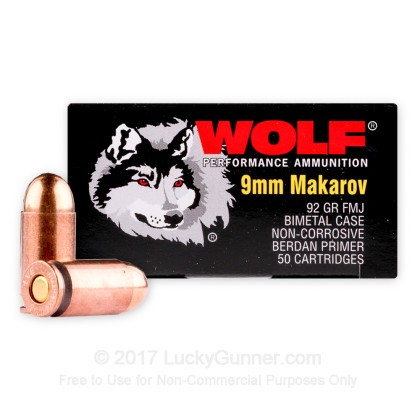 Image 2 of Wolf 9mm Makarov (9x18mm) Ammo