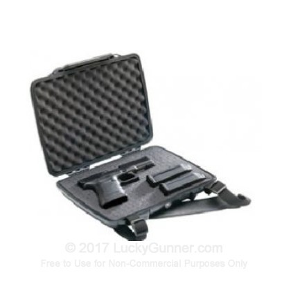 Large image of Pelican 1075 HardBack Pistol Case For Sale - Black