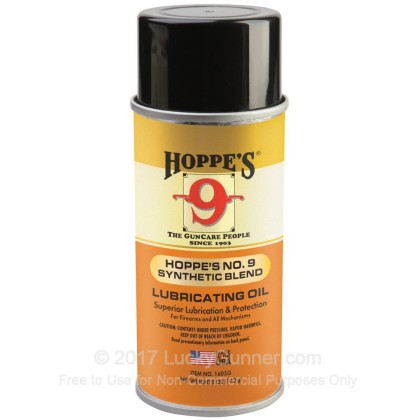 Large image of Hoppe's #9 Synthetic Blend Lubricating Oil - 4 oz Aerosol Can - For Sale