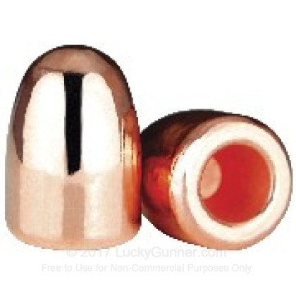 Large image of Bulk 45 Cal Bullets For Sale - 185 Grain Plated Hollow Base Round Nose Bullets in Stock by Berry's - 500 Count