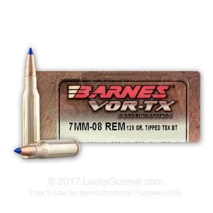 premium 7mm 08 remington ammo for sale 120 grain tsx ammunition in stock by barnes vor tx 20. Black Bedroom Furniture Sets. Home Design Ideas