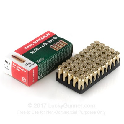 Image 3 of Sellier & Bellot 9mm Makarov (9x18mm) Ammo