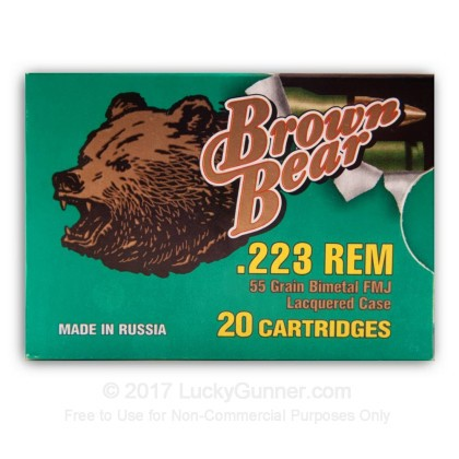 Image 2 of Brown Bear .223 Remington Ammo