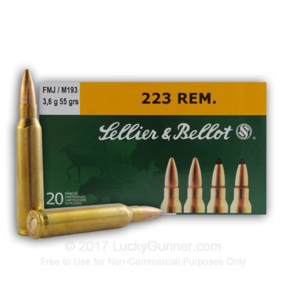 Image 1 of Sellier & Bellot 5.56x45mm Ammo
