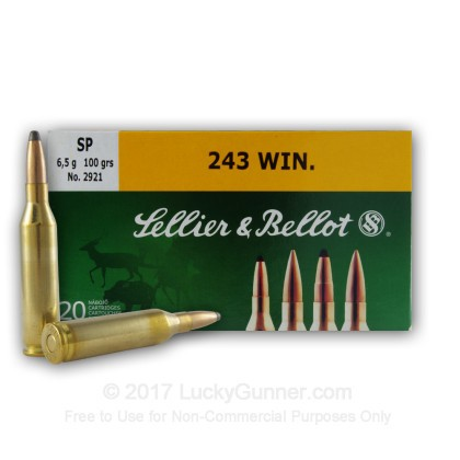 Image 1 of Sellier & Bellot .243 Winchester Ammo