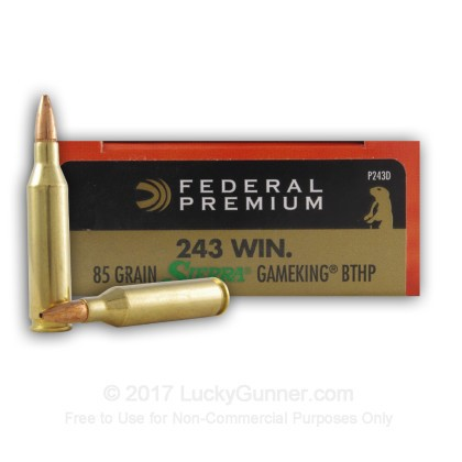 Image 1 of Federal .243 Winchester Ammo
