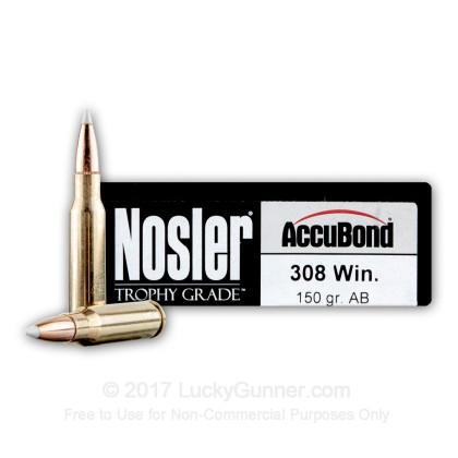 Image 1 of Nosler Ammunition .308 (7.62X51) Ammo