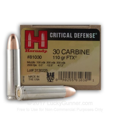 Image 1 of Hornady 30 Carbine Ammo