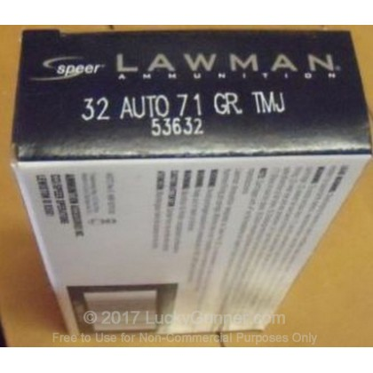 Image 2 of Speer .32 Auto (ACP) Ammo
