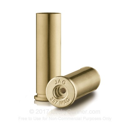 Large image of Bulk 357 Mag Casings For Sale - New Unprimed Brass Casings in Stock by Jagemann - 100 Casings
