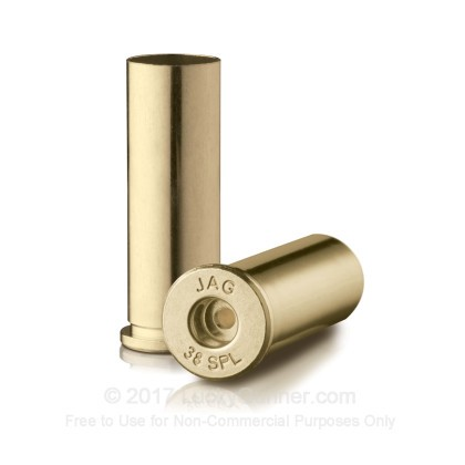 Large image of Bulk 38 Special Ammo For Sale - New Unprimed Brass Ammunition in Stock by Jagemann - 100 Casings