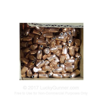 """Large image of Premium 38 Super (.356"""") Bullets for Sale - 125 Grain JHP Bullets in Stock by Zero Bullets - 500 Projectiles"""