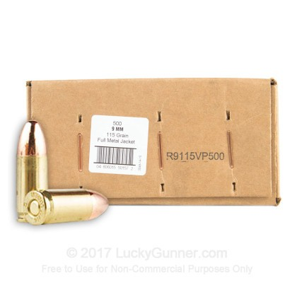 Image 1 of American Quality Ammunition 9mm Luger (9x19) Ammo
