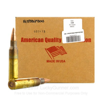 Image 1 of American Quality Ammunition 5.56x45mm Ammo